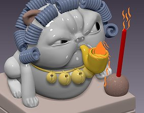 3D printable model INCENSE BASE - THE ANGRY CAT WITH 1