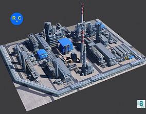 Refinery 3D asset low-poly robot