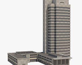 Damage Office Building 3D asset