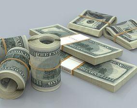 3D model money bill