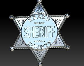 3D print model Sheriff badge 2