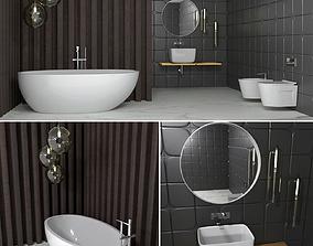 washbasin Bathroom set 3D model