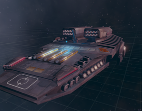 3D asset Star ship destroyer 1