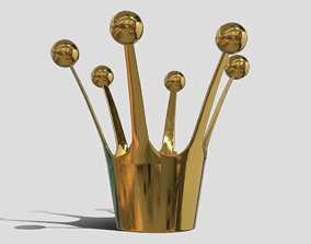 3D model game-ready Crown