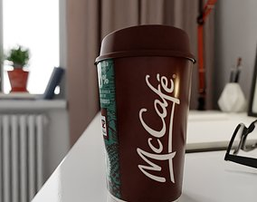 McCafe Cup Photorealistic PBR 3D model