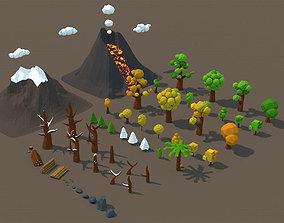 3D asset Low Poly Nature Mega Pack