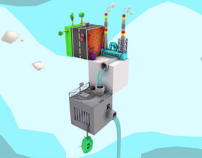 jail Cube City 3D model
