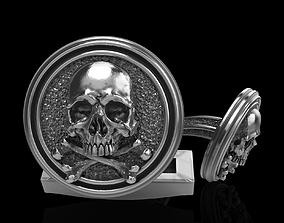 3d 3D print model skull cufflinks