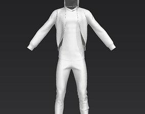3D model Man t-shirt and hood
