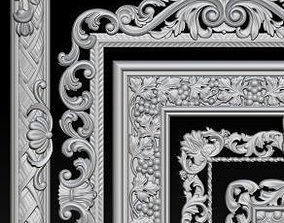 3D print model Lot of 5 pcs Carved Frame Collection