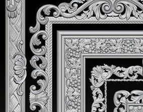 Lot of 5 pcs Carved Frame Collection 3D print model