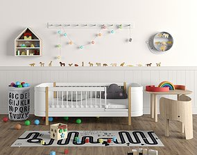 3D Kids Furniture and Toys Set 01