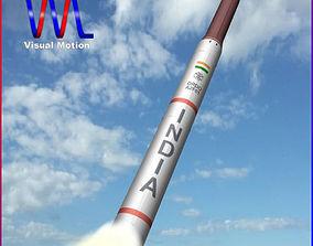 3D model AGNI-4 Ballistic Missile