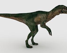 3D model animated Allosaurus dino