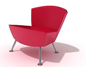 Modern Pink Arm Chair 3D