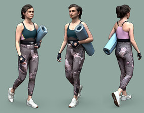 Stylized Fitness Character 3D asset