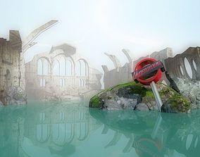 Apocalyptic environment post-apocalyptic 3D model