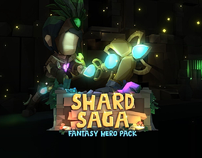 3D asset Shard Saga Fantasy Hero Pack