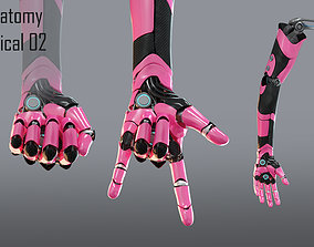 Robotic hand anatomy 02 3D animated