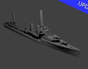 3D printable model US Farragut Class Destroyer Warship
