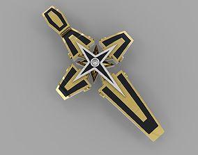 jewelry Cross with enamel 3D printable model