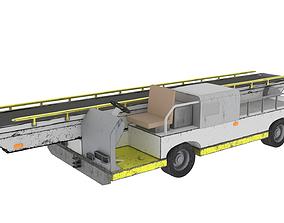 Airport baggage belt loader 3D model