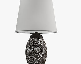 Black And White Table Lamp vray 3D model