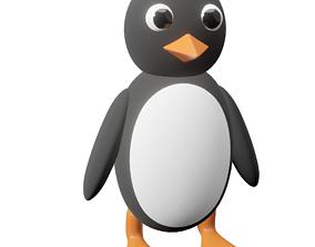 3D asset Penguin subdivision-ready