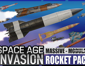 3D model Space Age Invasion Massive Modular Rocket Pack