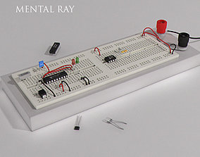 3D model Electronical project board