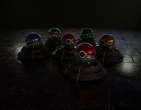 Sci-fi Pokeballs 3D asset