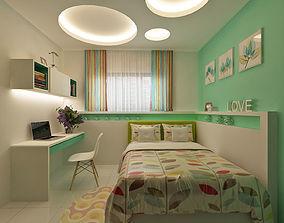 3D Bedroom kids