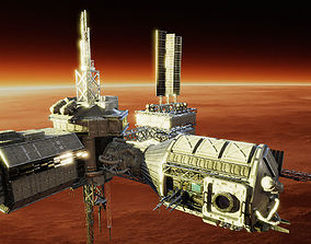 Space Station Builder 3D asset