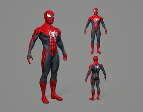 Spiderman 3D model low-poly