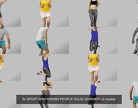 5x SPORT MAN WOMAN PEOPLE VOL02 SCANNED 3D model