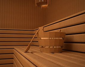 Sauna 3D Model steam
