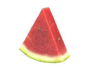 kitchen Photorealistic Watermelon Slice 3D Scan