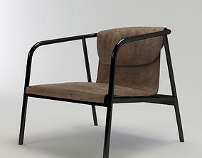 3D model Dezeen Leather Chair