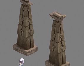 3D model Religion - decorative pillars