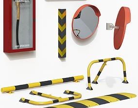 3D model Parking Equipment Set equipment