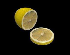lemon 3D asset game-ready fruit