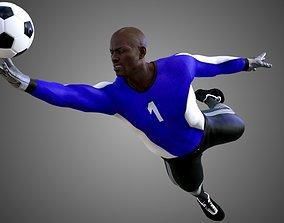 3D African Football Soccer GoalKeeper
