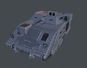 3D model Bradley Tank