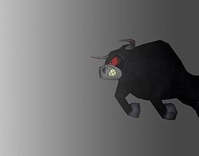 3D model Animated Bull