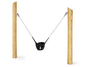 Single swing for kids Kompan 3D model
