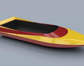 Hull of jet sprint boat 3D