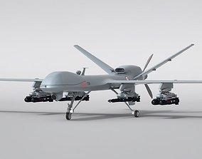 Military Aircraft Drone 3D mq