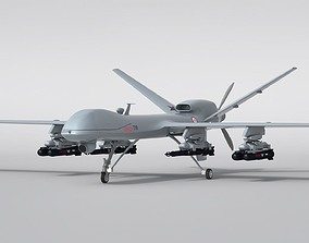 Military Aircraft Drone 3D