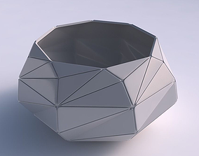 3D printable model Bowl squeezed twisted with triangle