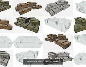 3D model Ammunition Wood Crates